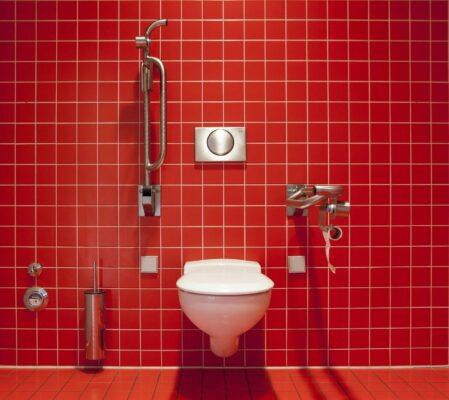 sanitary fittings in bathroom